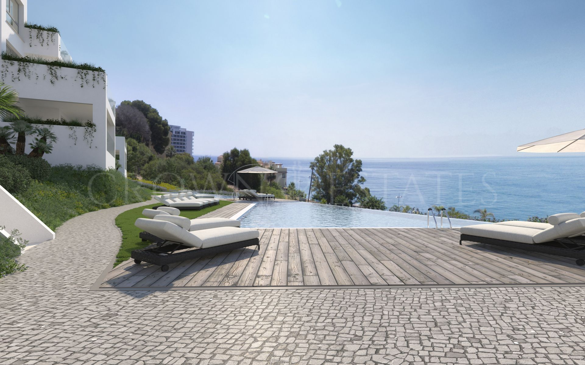 90 contemporary homes with excellent fittings and finishes, and the beach onyour doorstep. 1, 2 and 3 bedrooms with spacious terraces and glass wallsoffering stunning uninterrupted views of the sea.