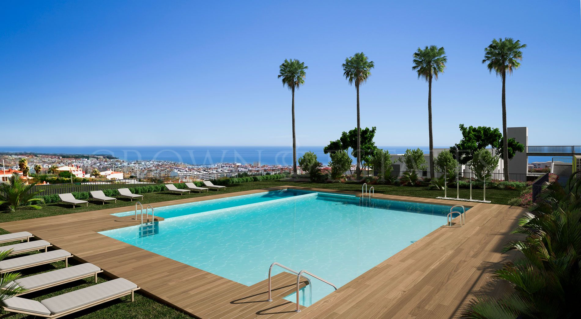 Mesas Homes offers a total of 187 one, two, three or four bedroom apartmentslocated in the city of Estepona. Its privileged location offers beautifulviews over the bay of Estepona.
