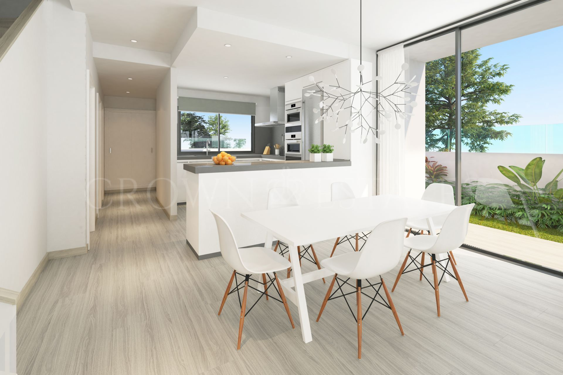 Oak 47, an elegant development of contemporary town homes only 3 minutes' walk from the beaches of Fuengirola & Mijas Costa.