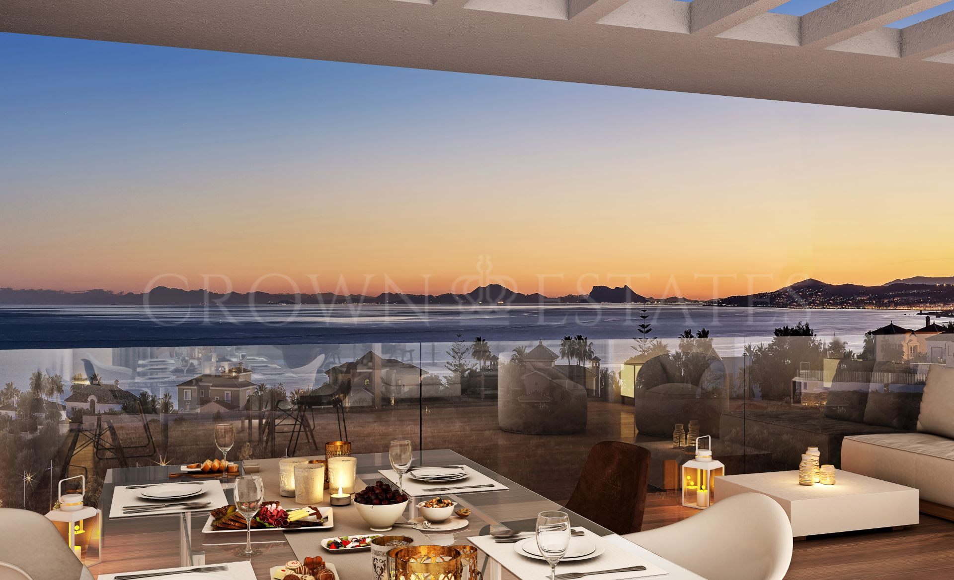 Scenic, modern apartments with amazing seaviews in Estepona town