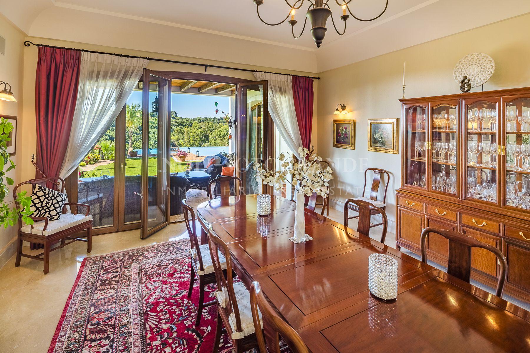 Immaculate villa Sotogrande Alto with sea and golf views.