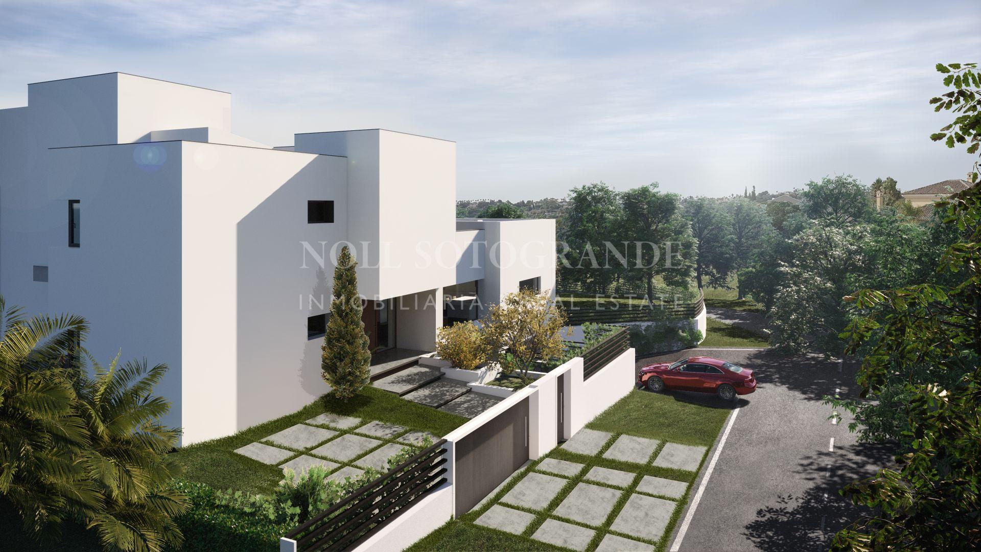Villa contemporánea sobre plano con vistas al mar en venta, Sotogrande Alto