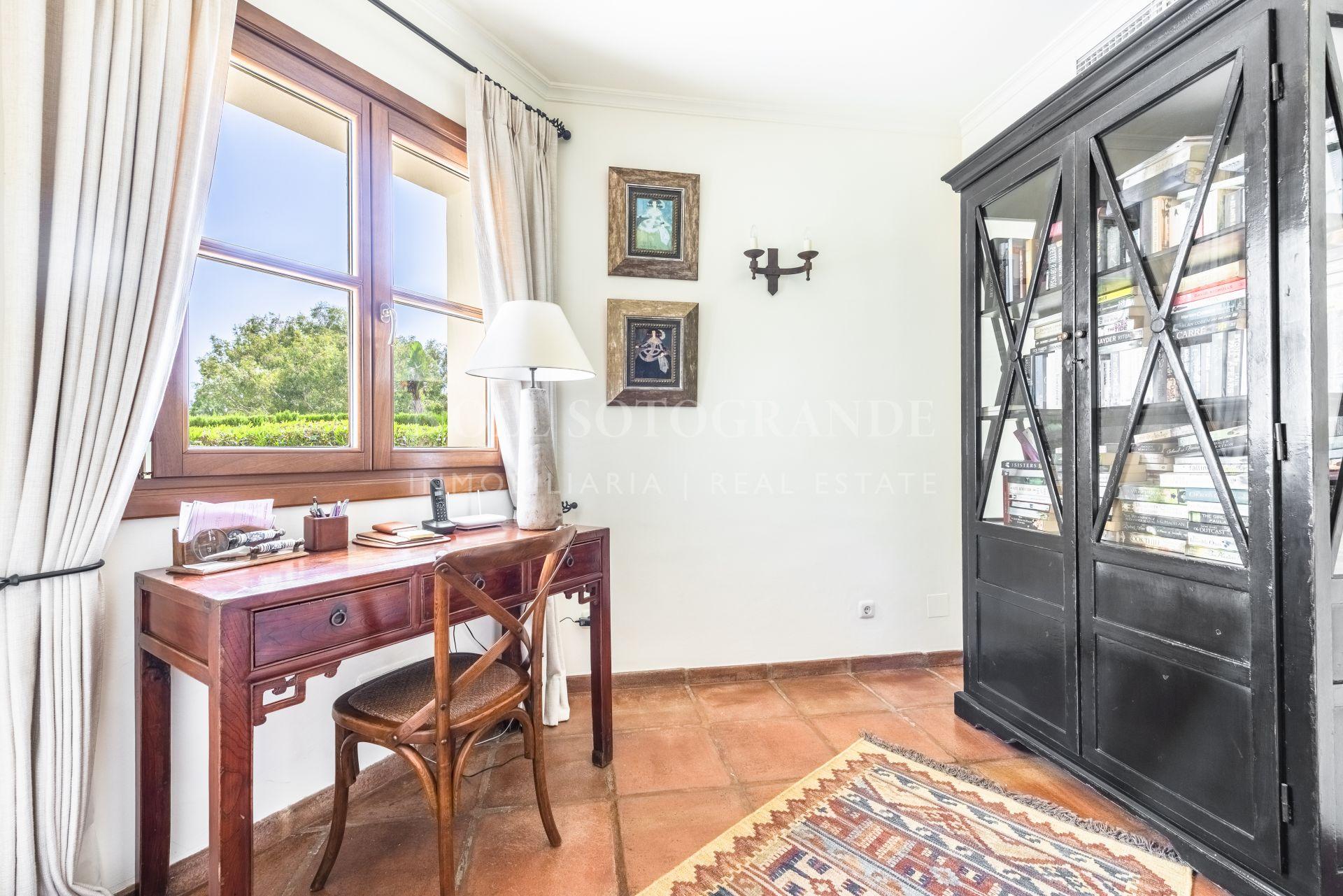 Villa for sale in Sotogrande Alto front line golf position