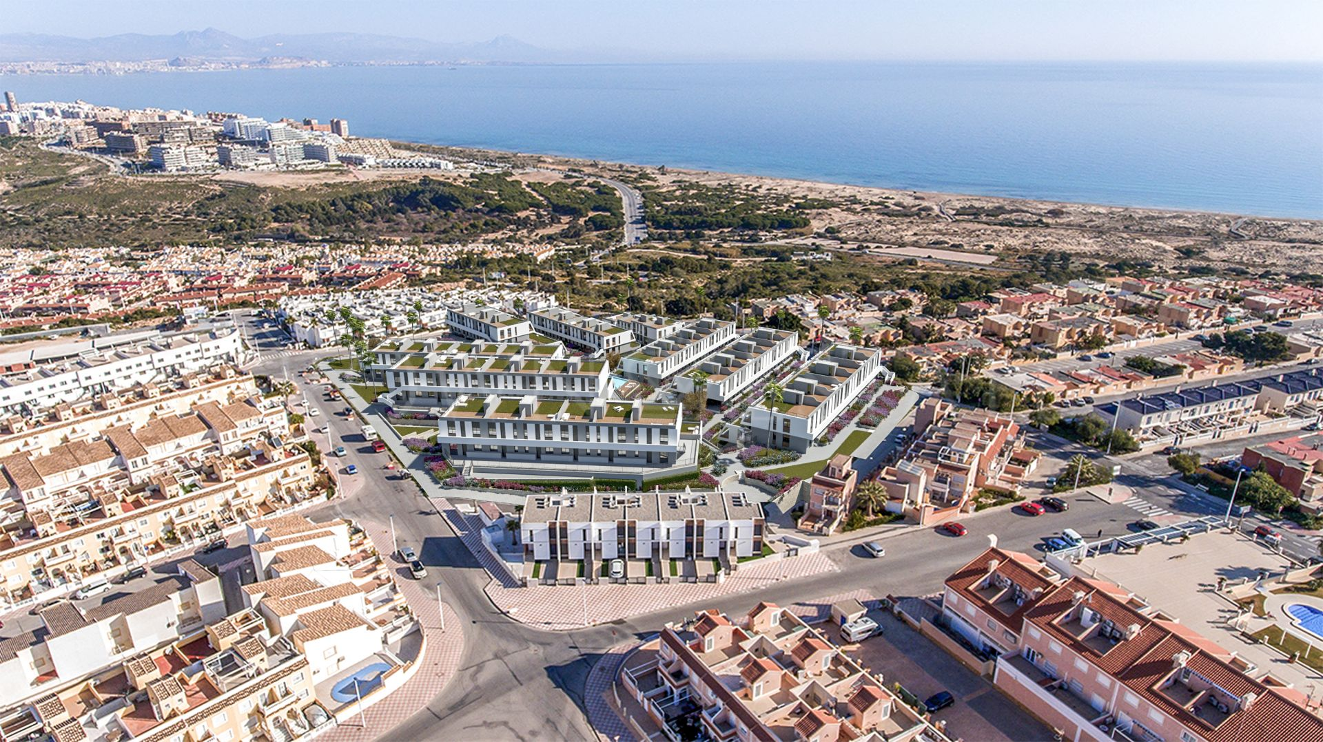 Iconic, contemporary apartments with seaviews in Gran Alacant, Alicante