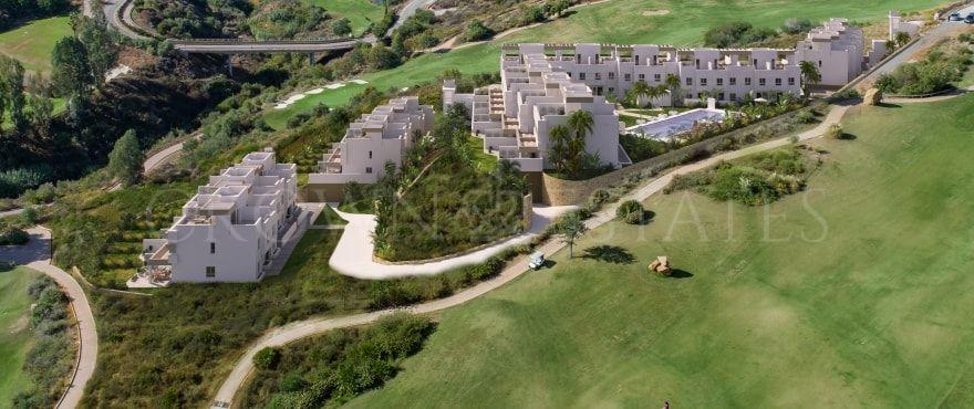 Natura, modern design townhouses frontline golf in La Cala Golf in Mijas