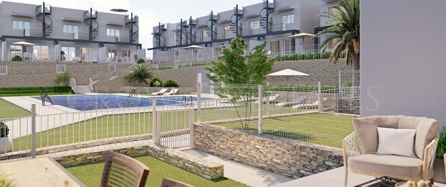 Kiruna Hills, exclusive townhouses in the beautiful Alenda Golf Course in Elche
