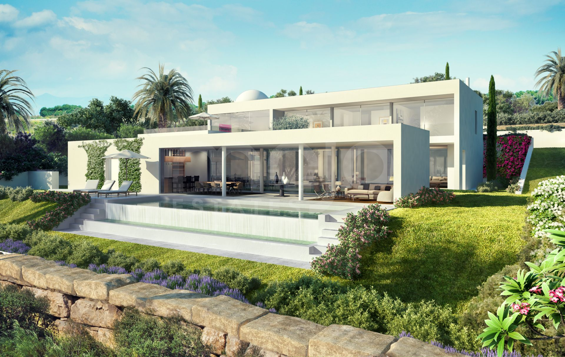 SPECTACULAR CONTEMPORARY LUXURY VILLA FRONTLINE GOLF IN EXCLUSIVE FINCA CORTESIN, CASARES