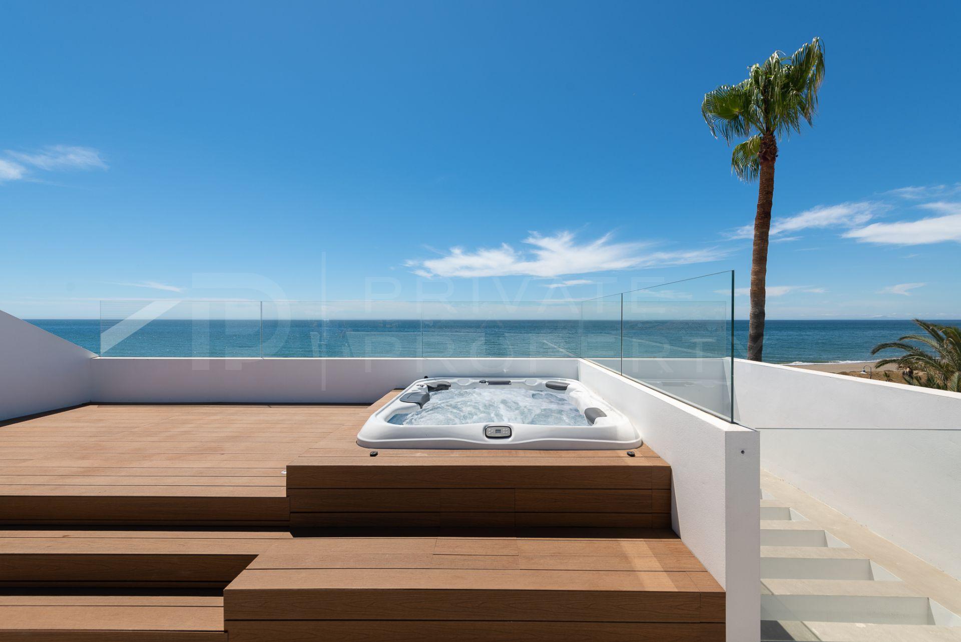 Frontline beach villa in Benamara