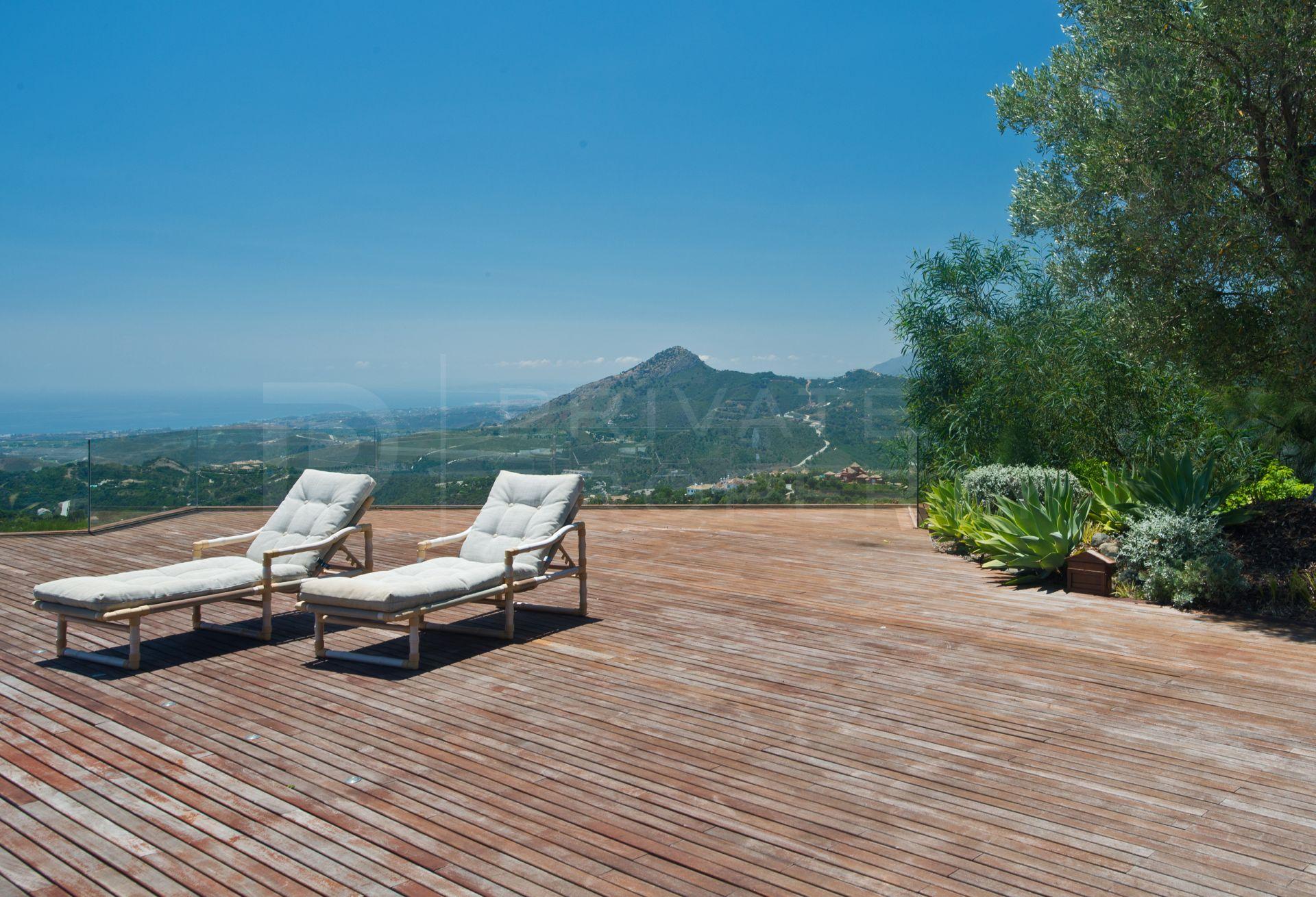 Panoramic sea views in La Zagaleta