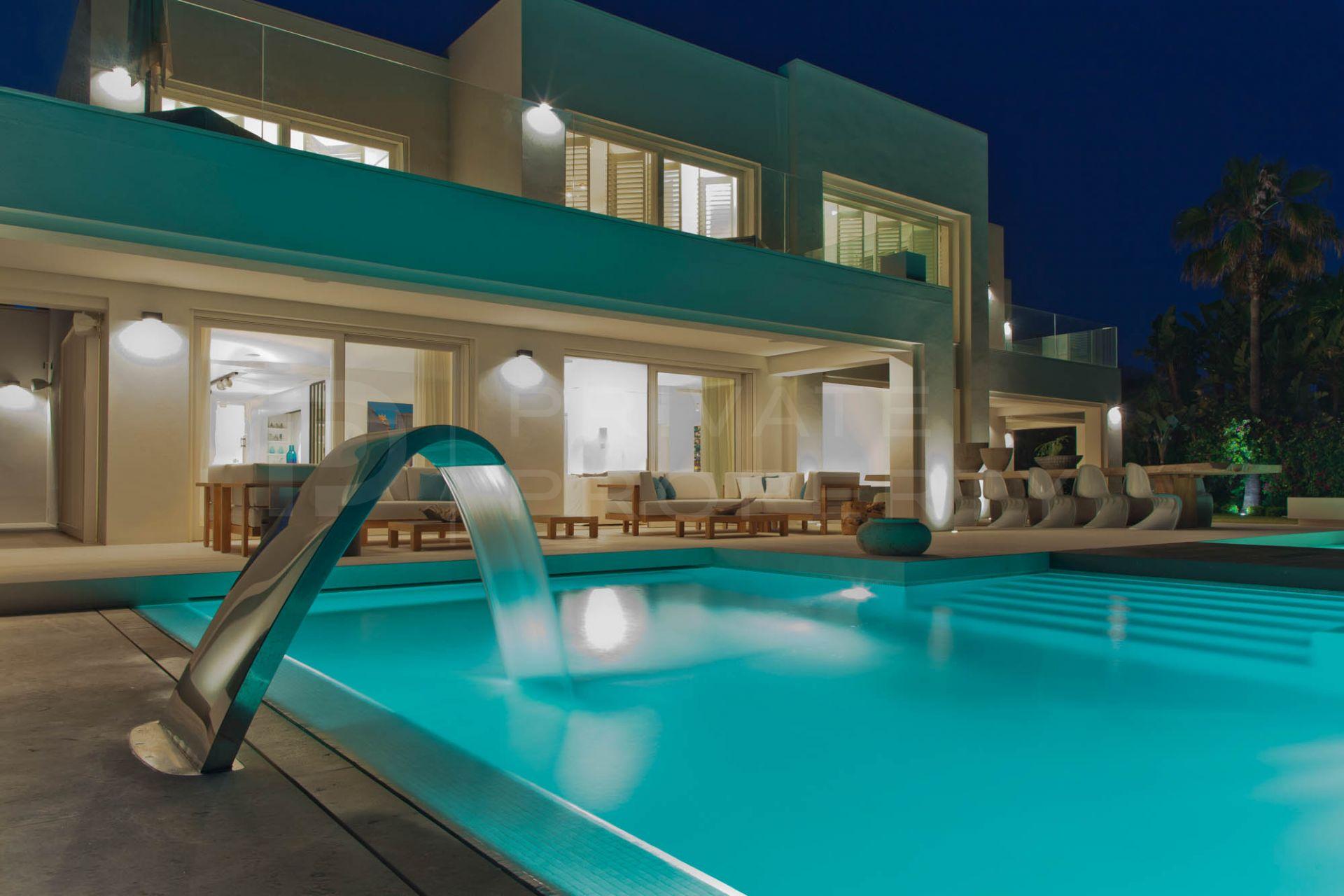 Frontline beach villa on the Golden Mile