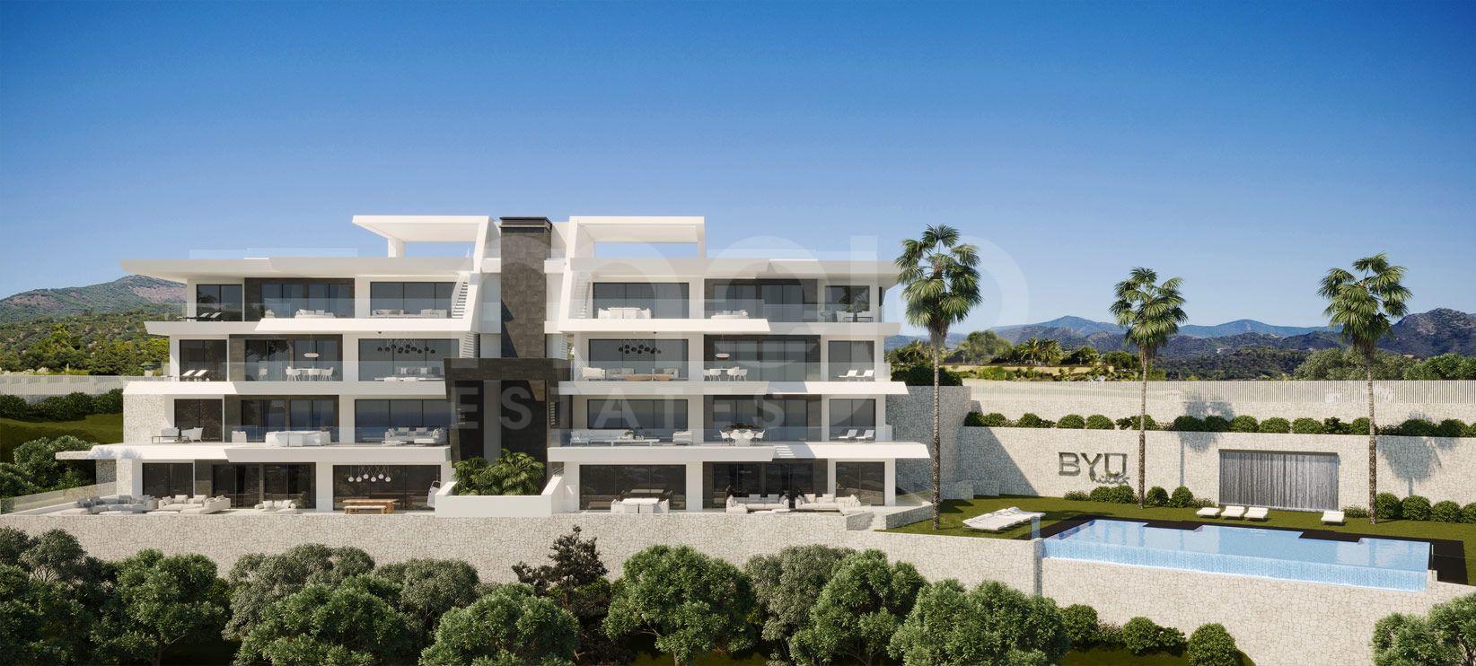 BYU HILLS es una perla en la Costa del Sol, que consta de 24 apartamentos repartidos en tres edificios