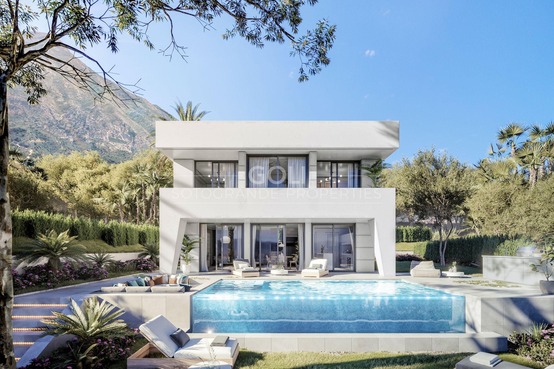 Modern villas with sea views