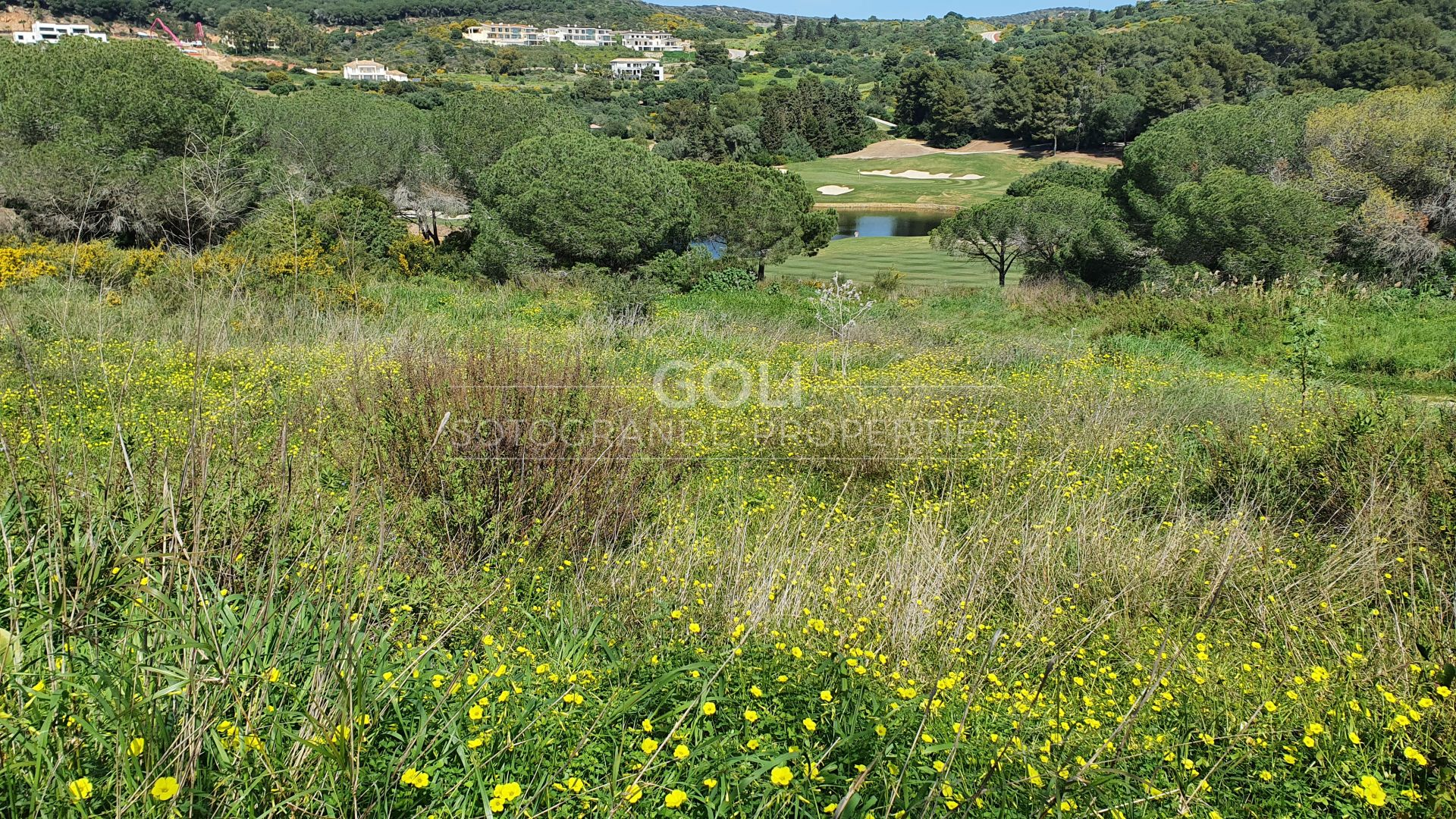 Plot facing La Reserva Golf Course