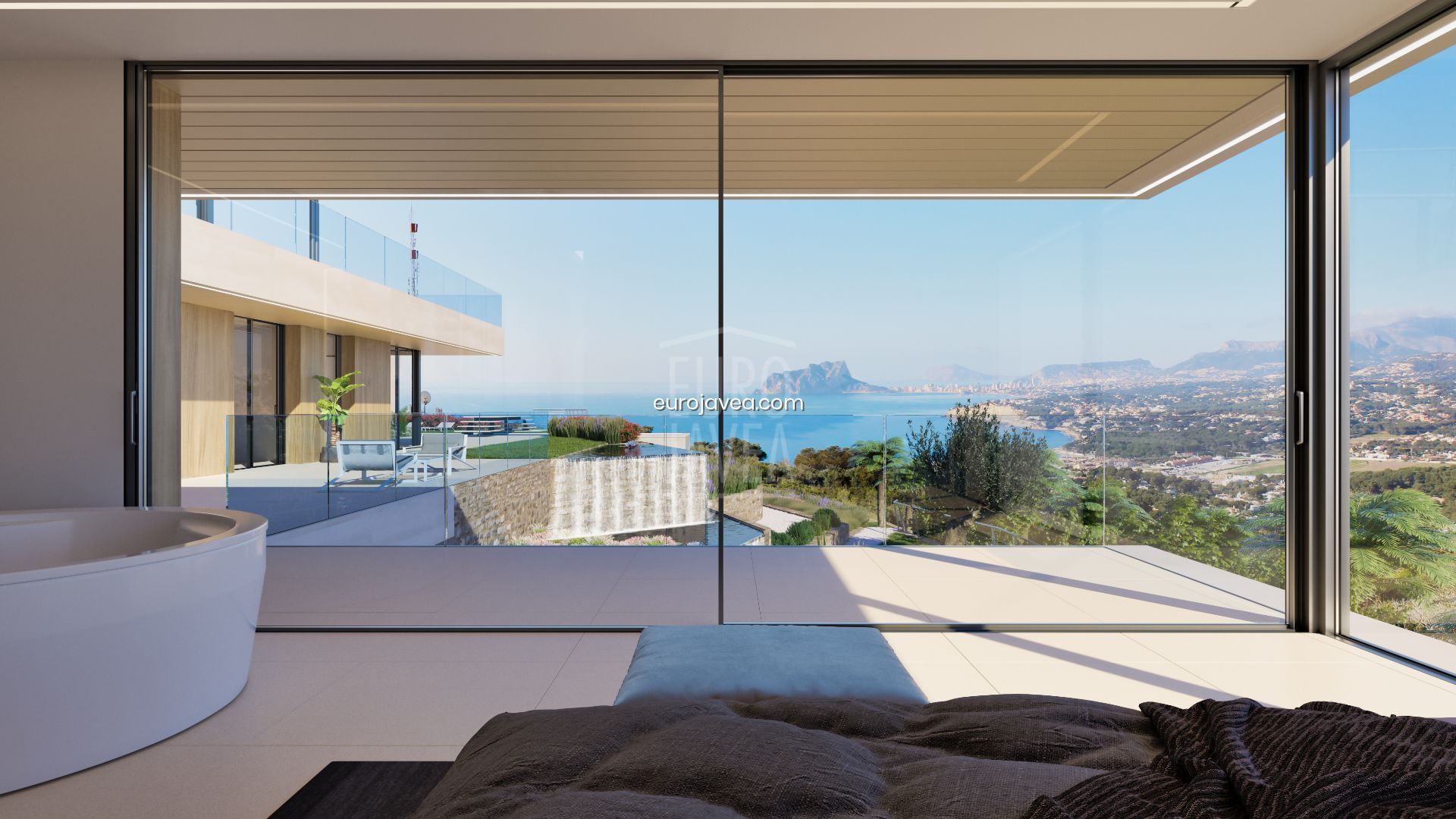 Construction project of a Luxury Villa for sale in Moraira with spectacular sea views