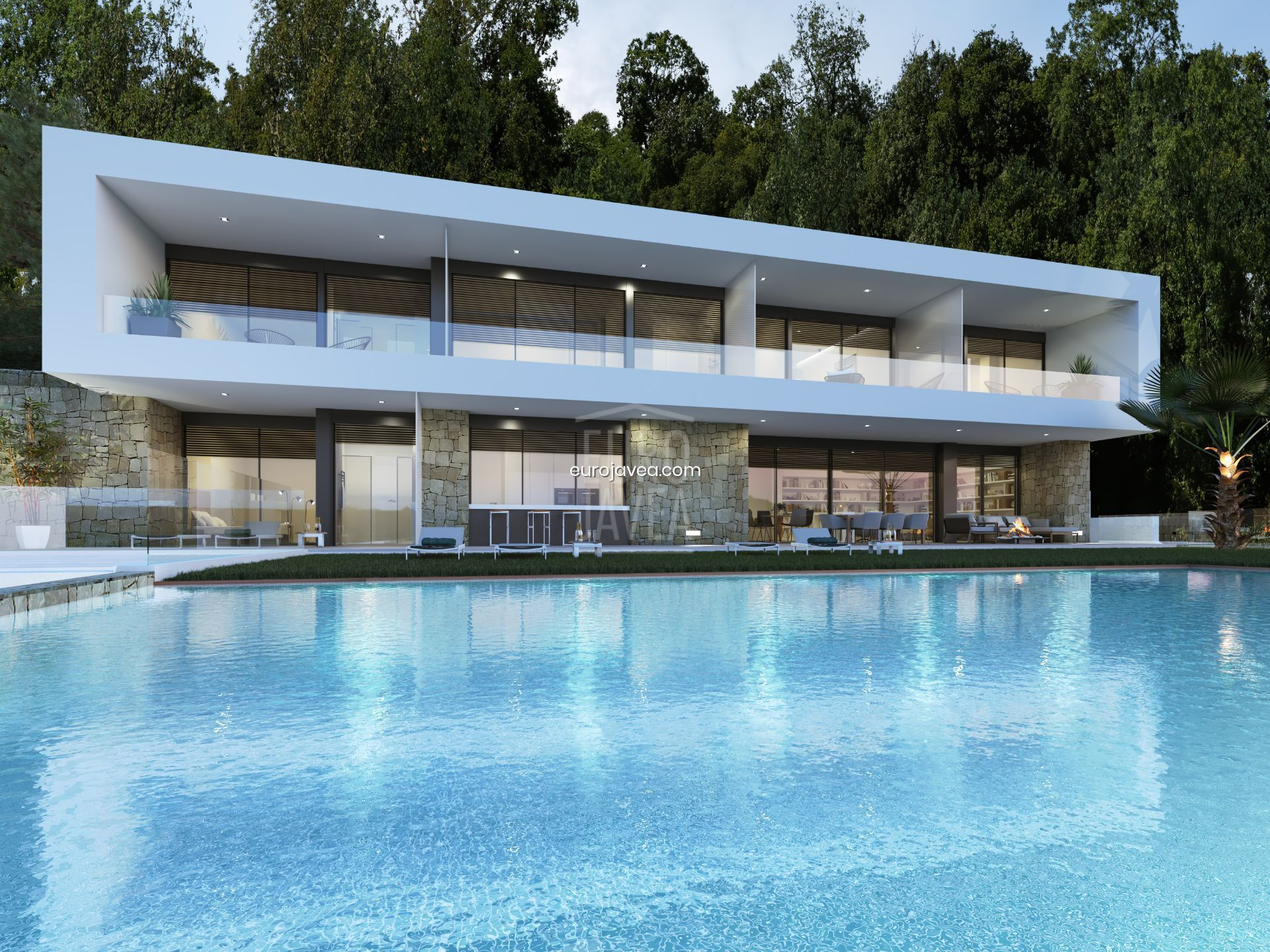 Contemporary style villa project for sale in Jávea in Cuesta de San Antonio, with the most amazing views from right above the port overlooking the bay of Jávea .