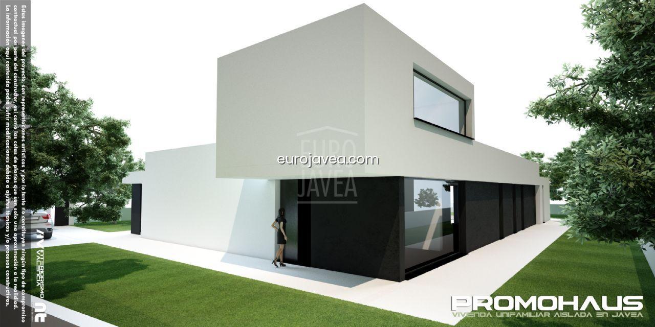 Proyecto de vivienda unifamiliar, de estilo moderno a la venta en Jávea