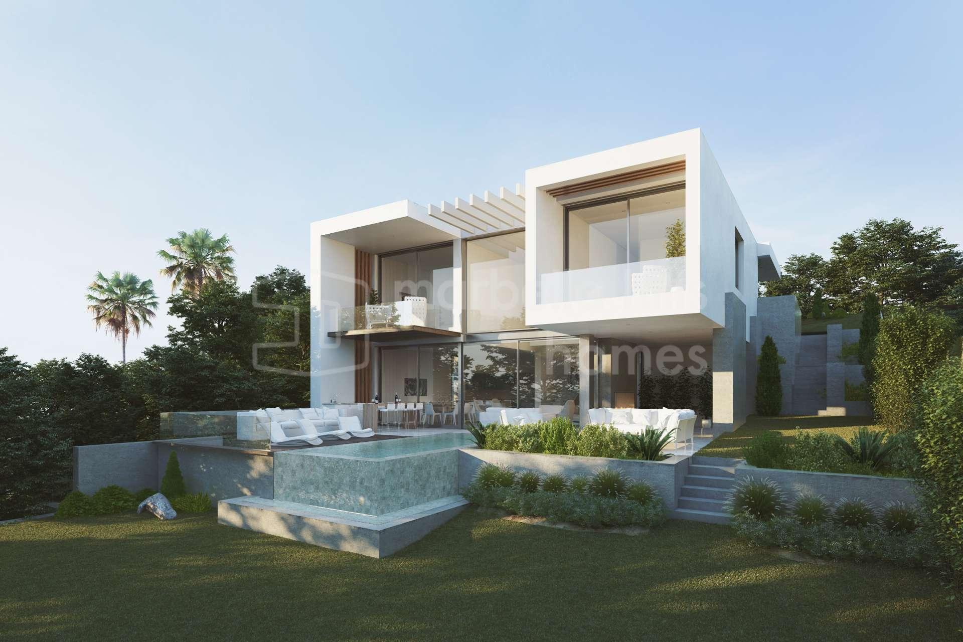 New construction project of 4 contemporary villas in la alqueria