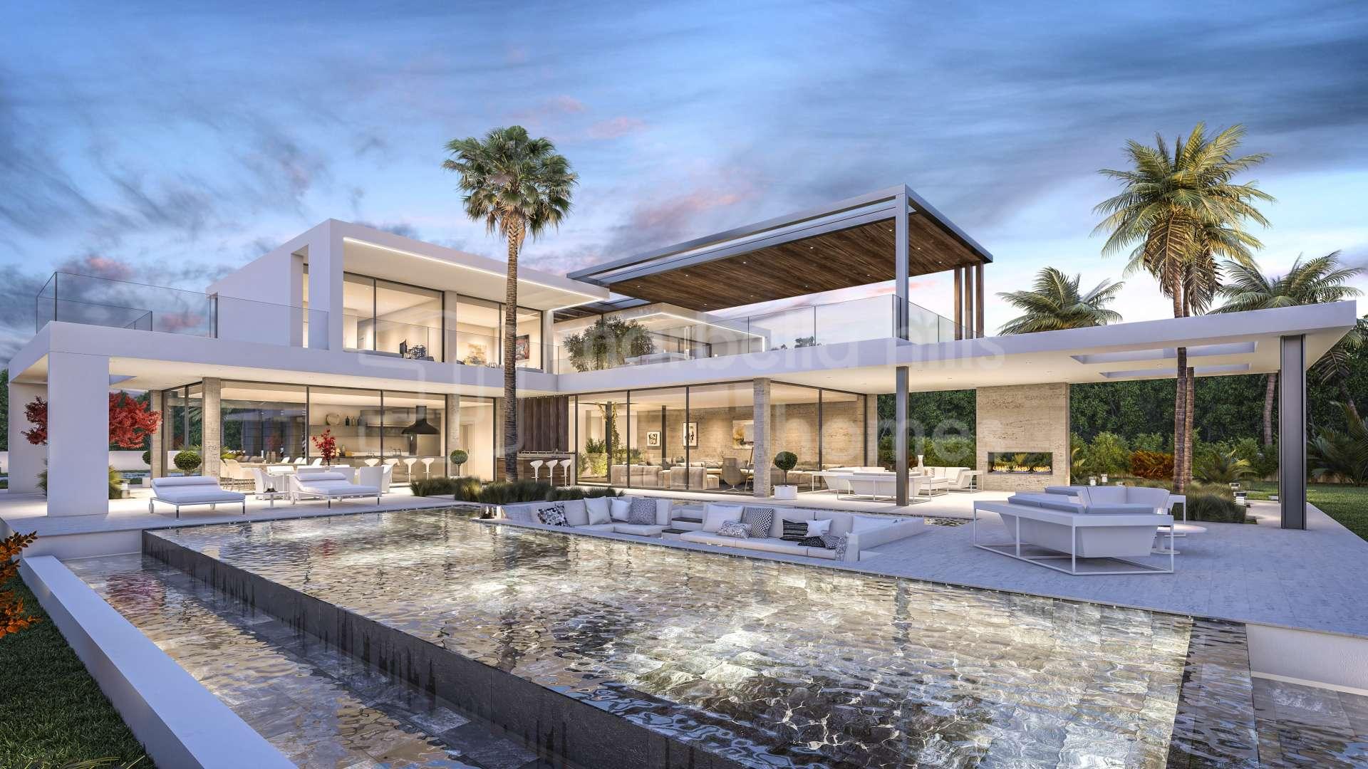 Moderne villa zum verkauf in nagüeles marbella malaga die costa