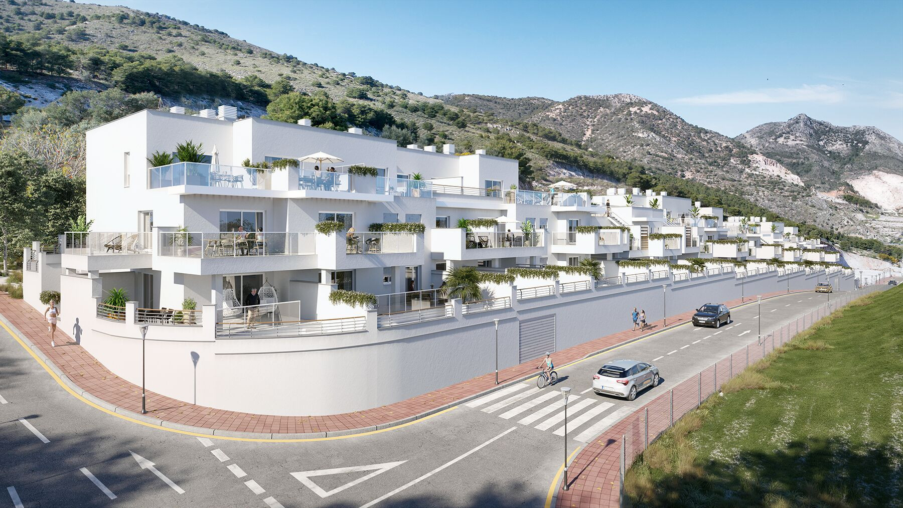 Modern new development of apartments in Benalmádena Pueblo
