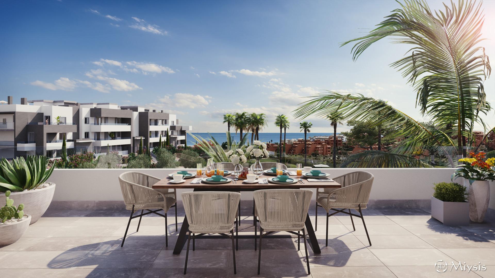 Nieuw project van moderne luxe appartementen in Estepona