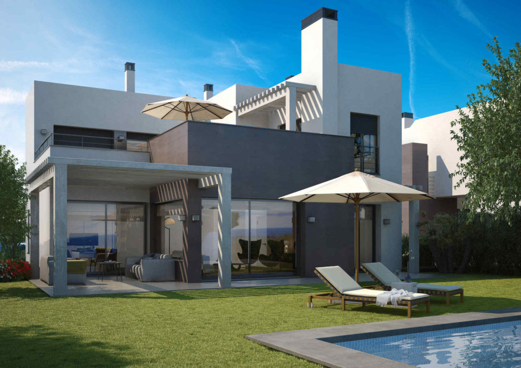 Brand new complex of modern villas for sale in La Resina Golf - Estepona