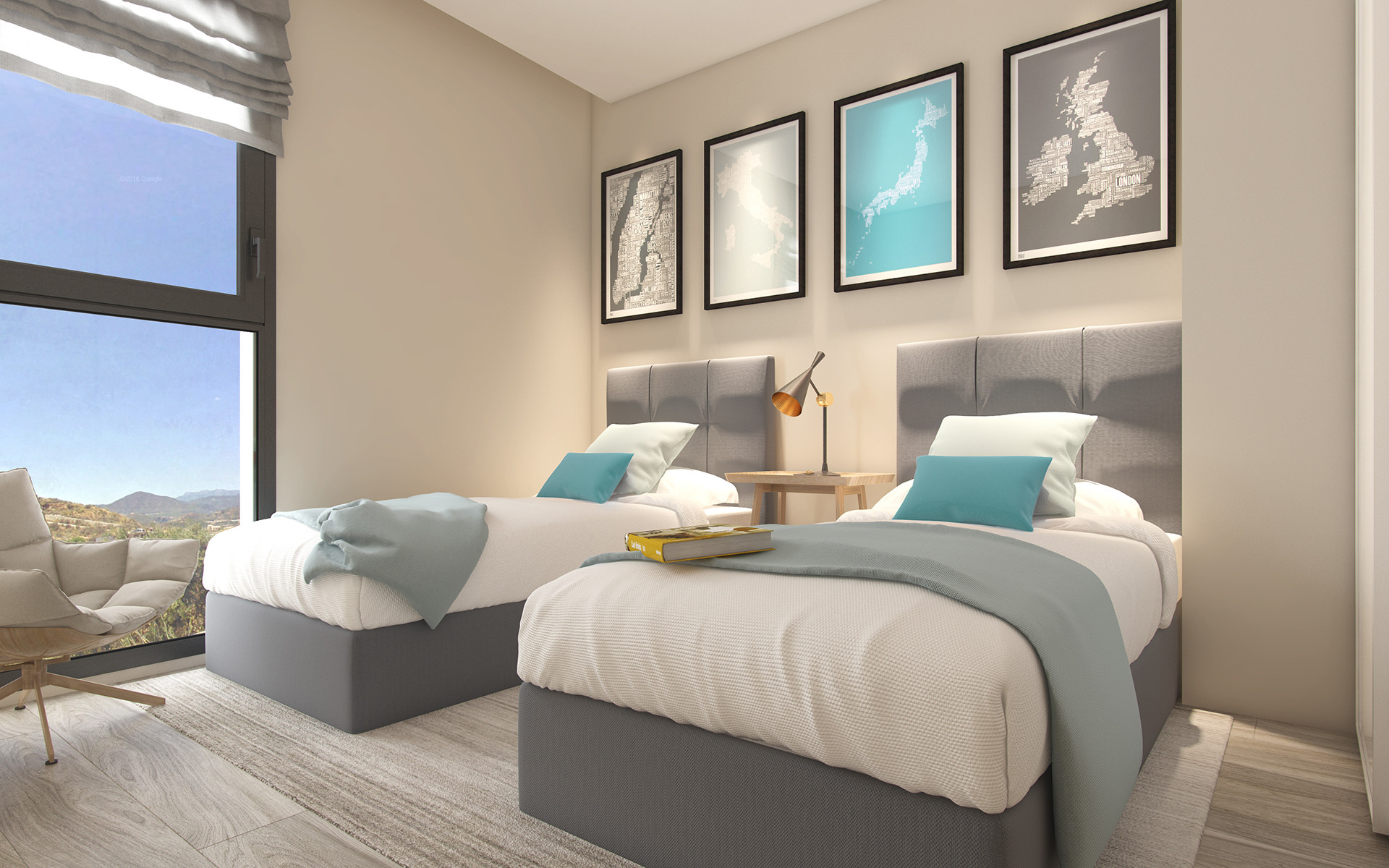 New contemporary apartments for sale in Mijas