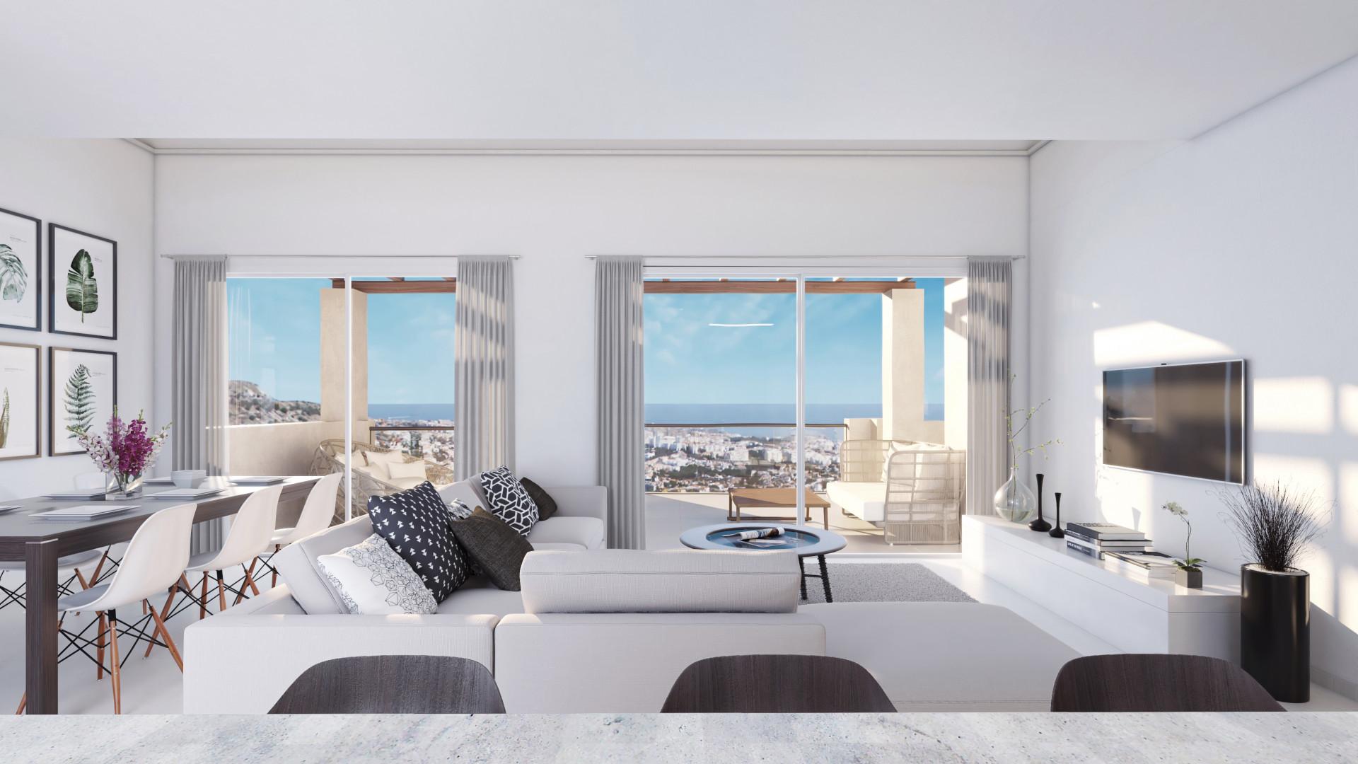 Brand new modern Mediterranean apartments for sale in Benalmadena