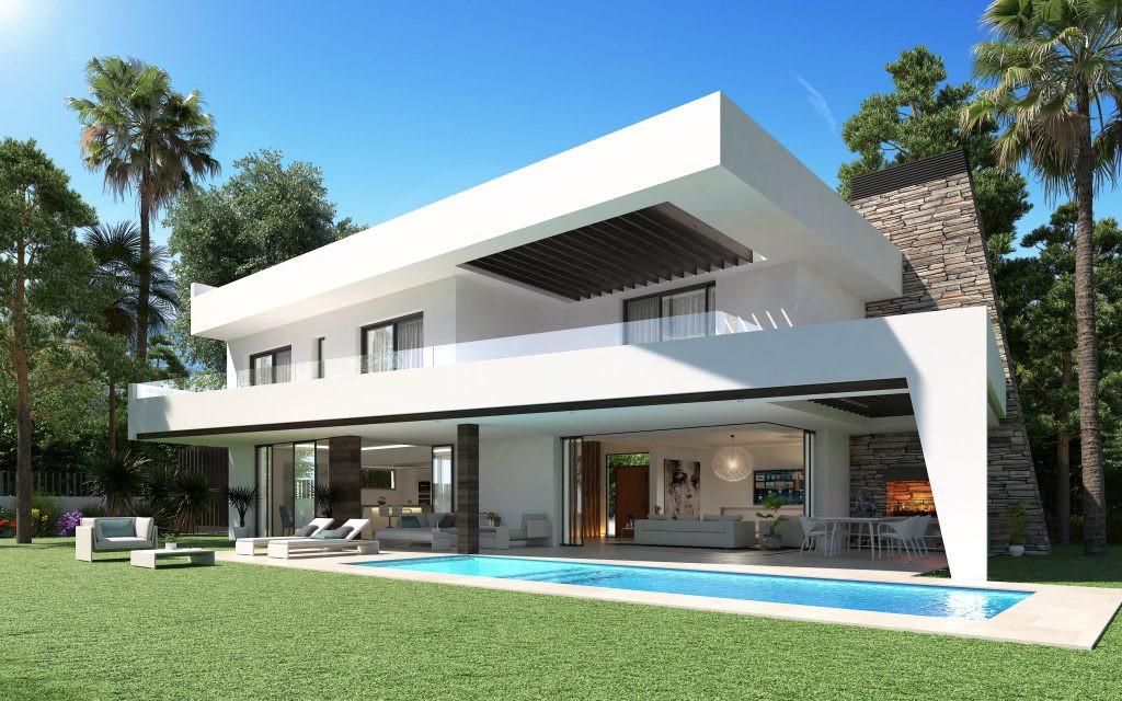 Moderne villa's te koop in Elviria en Estepona