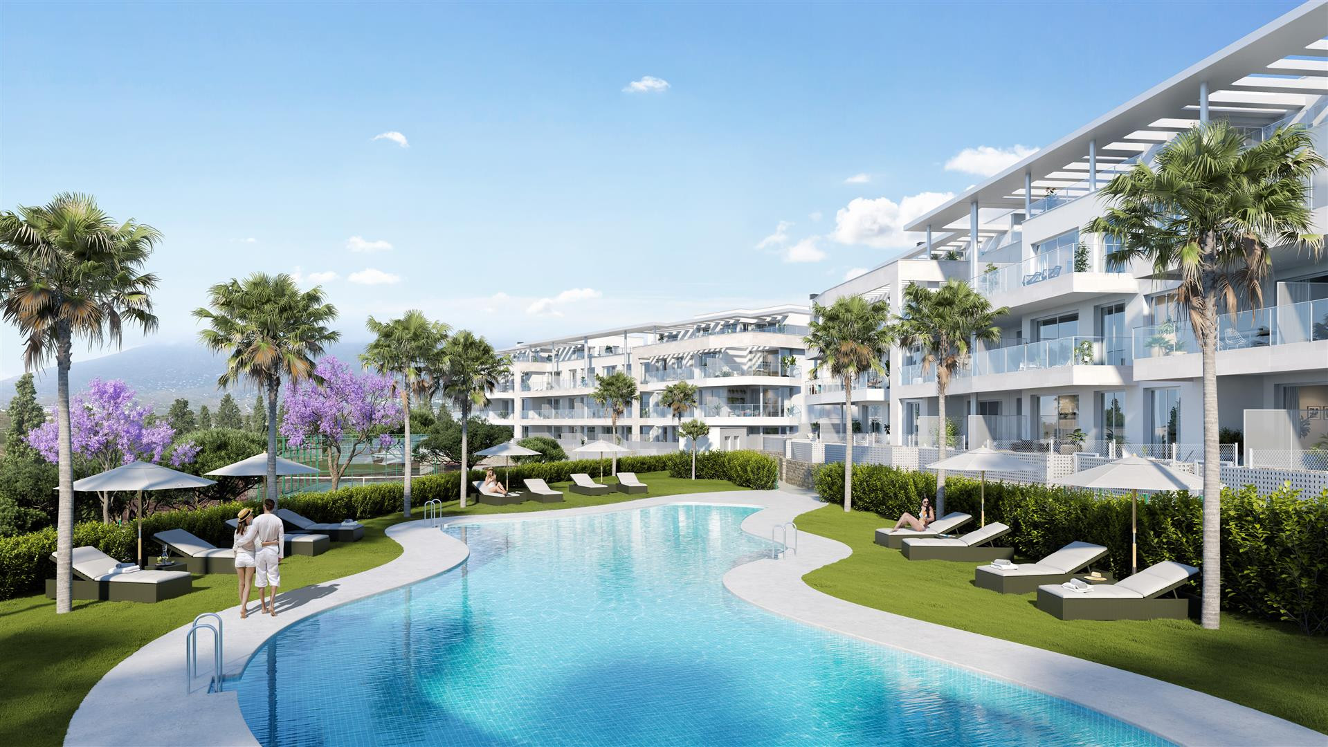 New exclusive and modern apartments for sale in Mijas Costa