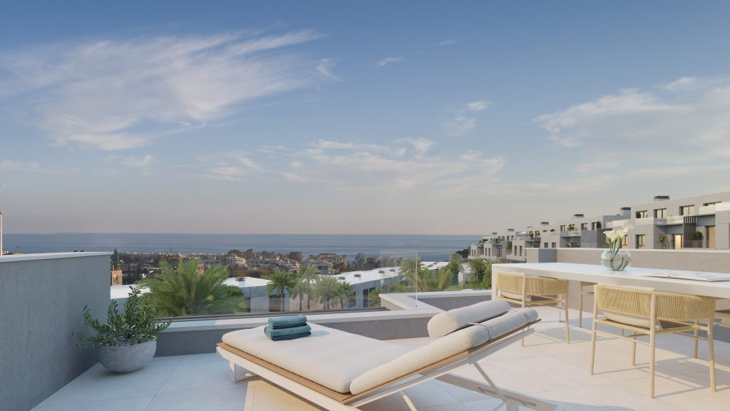 Brand new modern semidetached townhouses for sale on the New Golden Mile -  Estepona