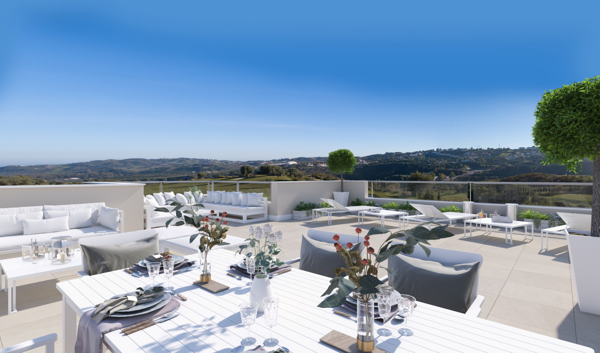 New development of modern apartments and penthouses for sale in La Cala Golf