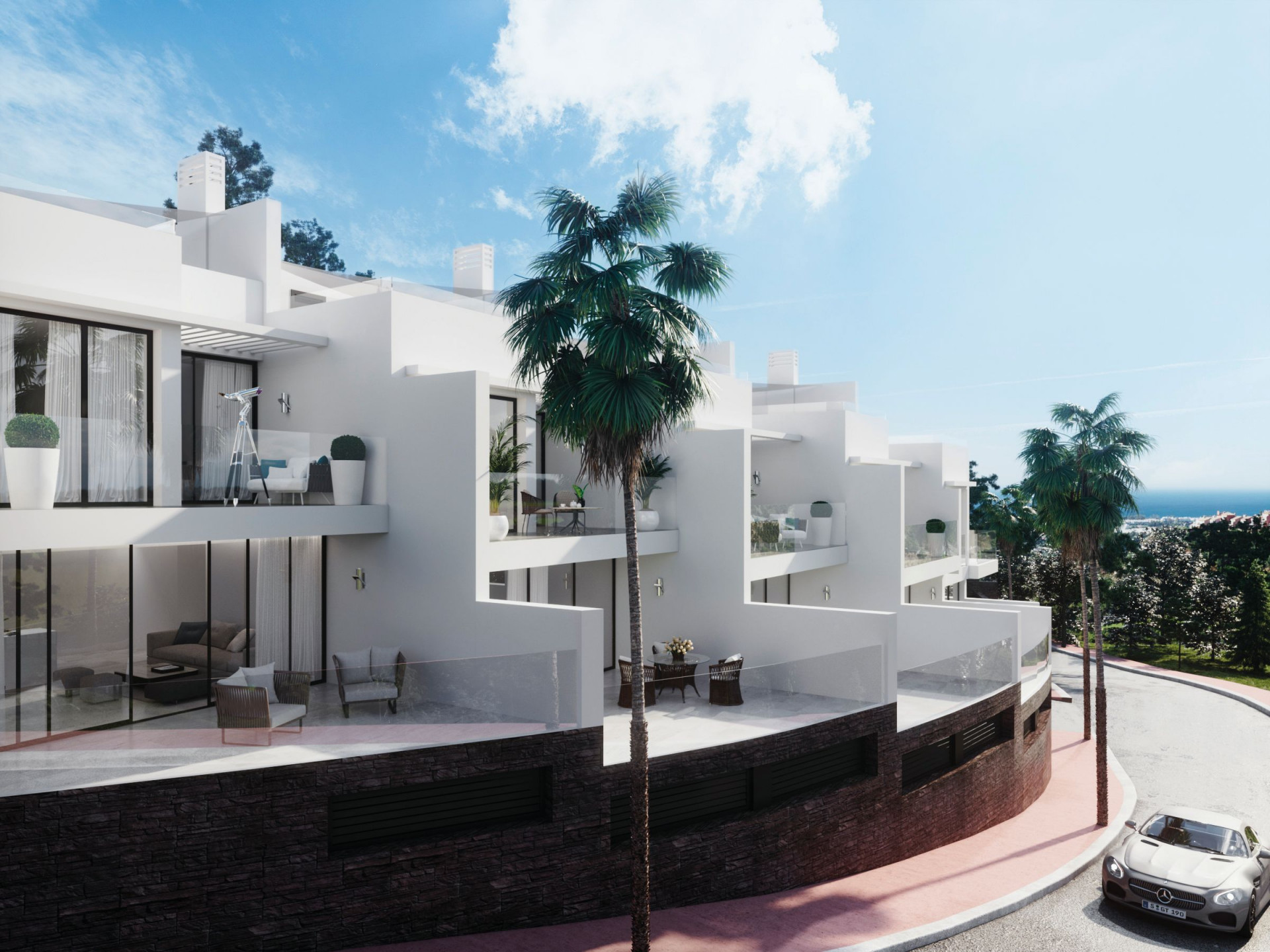Brand new modern townhouses for sale in the village of Benalmadena