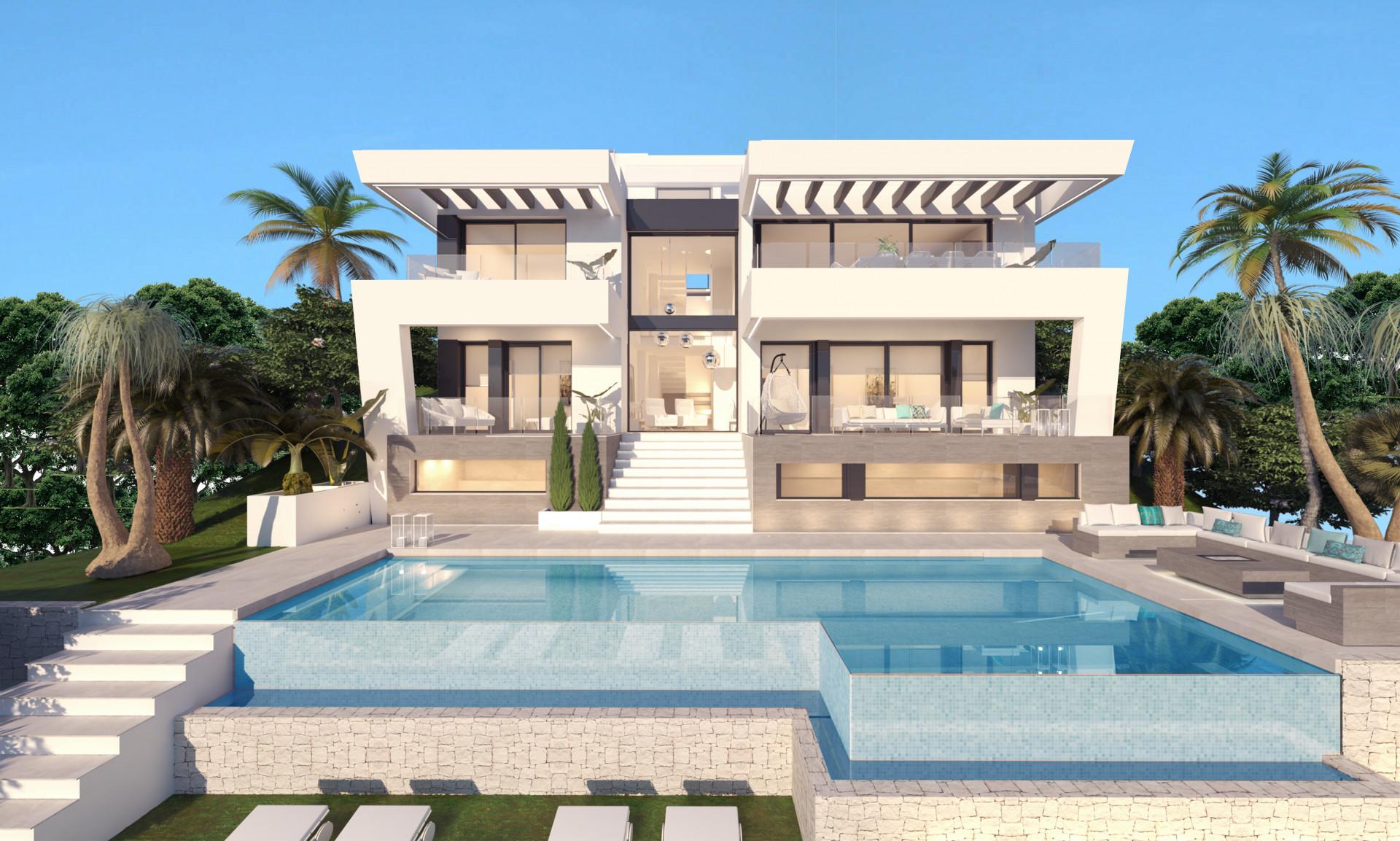 Moderne eerstelijn golfvilla te koop in Mijas Golf