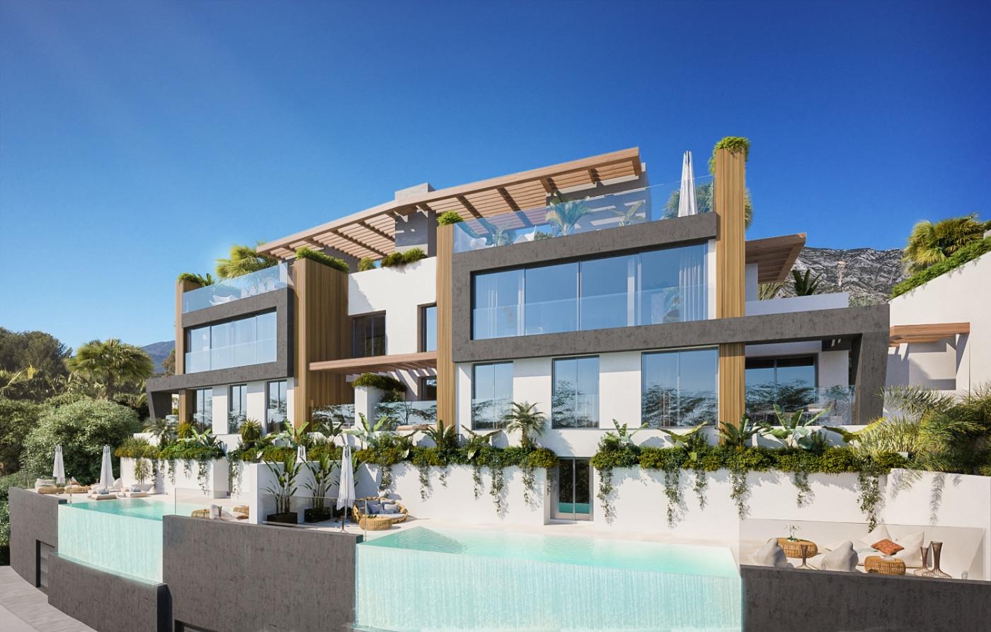 Luxury modern semidetached villas for sale in Benahavis