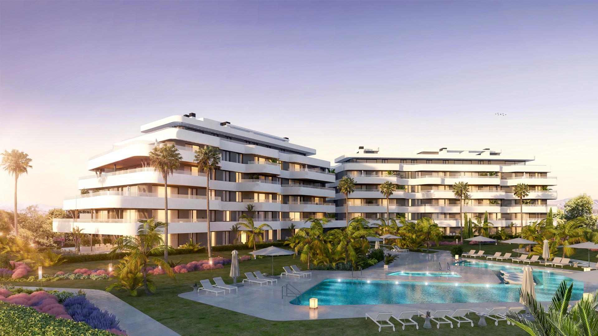New modern apartments first line beach in Torremolinos