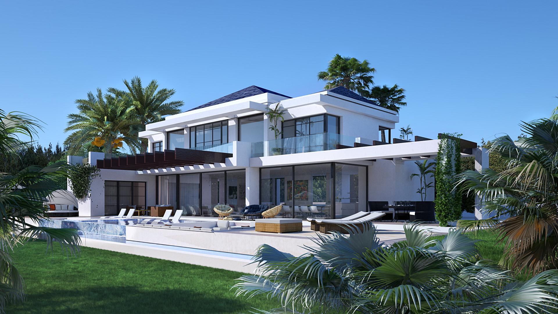 Modern front line golf villa for sale in Marbella - Benahavis