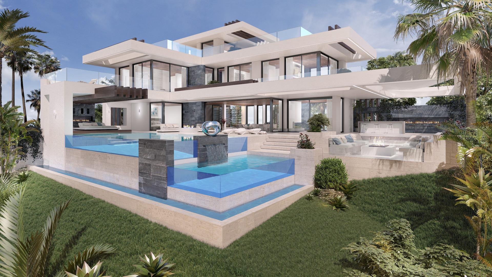 New contemporary front line golf villa for sale in La Alqueria Benahavis