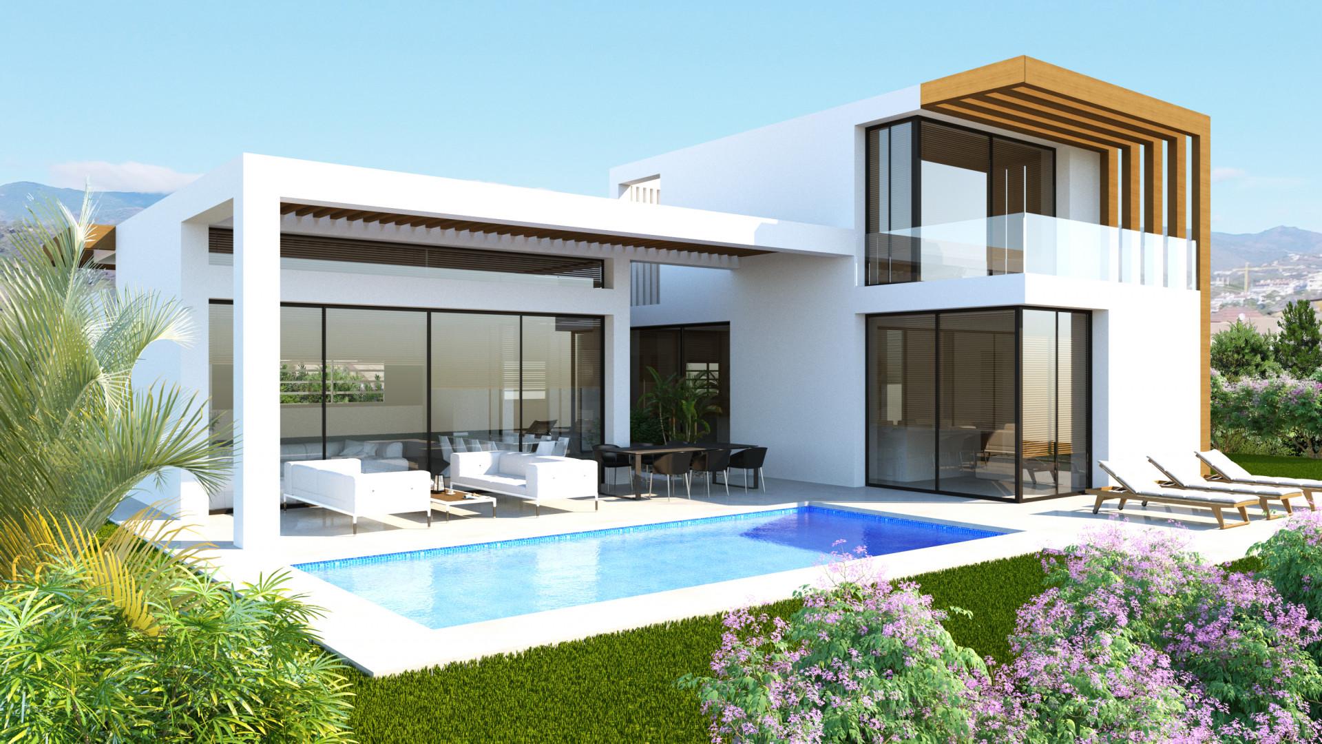 Proyecto de obra nueva de villas modernas contemporáneas en San Pedro Playa