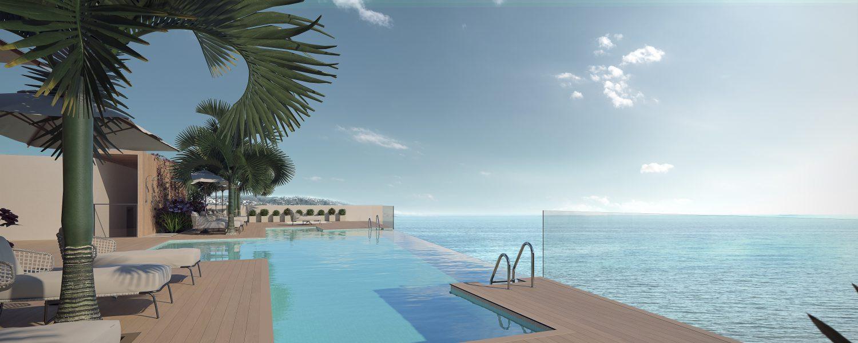 Apartamentos modernos nuevos frontales al mar a la venta en Estepona