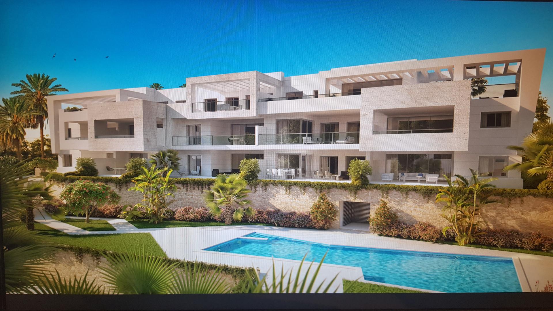 New modern contemporary frontline golf off plan development in Casares