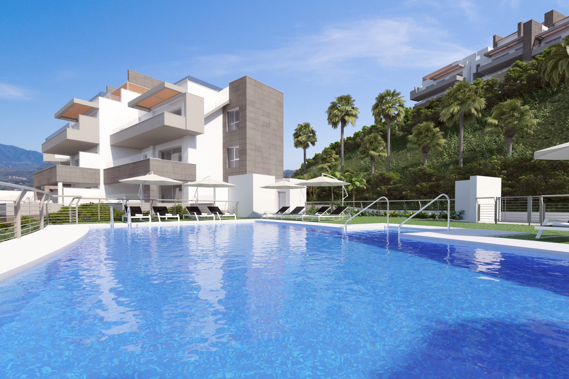 New contemporary style apartments for sale in Mijas Costa