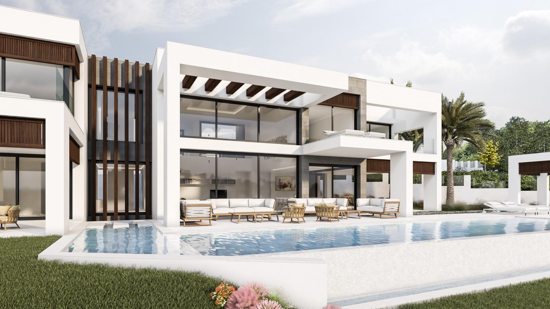 Newly built modern villa for sale in La Cerquilla - Nueva Andalucia - Marbella