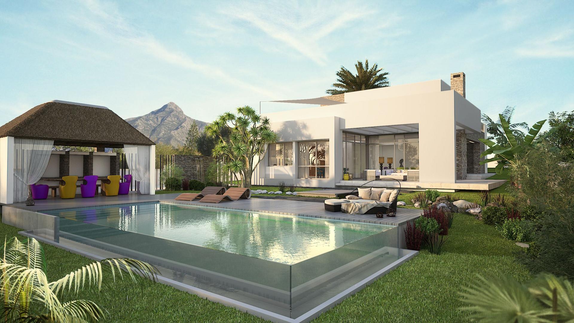 Enclosed complex of modern luxury villas for sale - Nueva Andalucía – Marbella