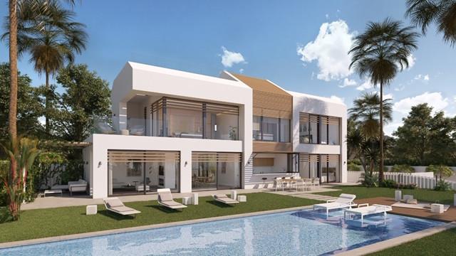 Front line beach modern off plan villa for sale in El Saladillo - New Golden Mile – Estepona