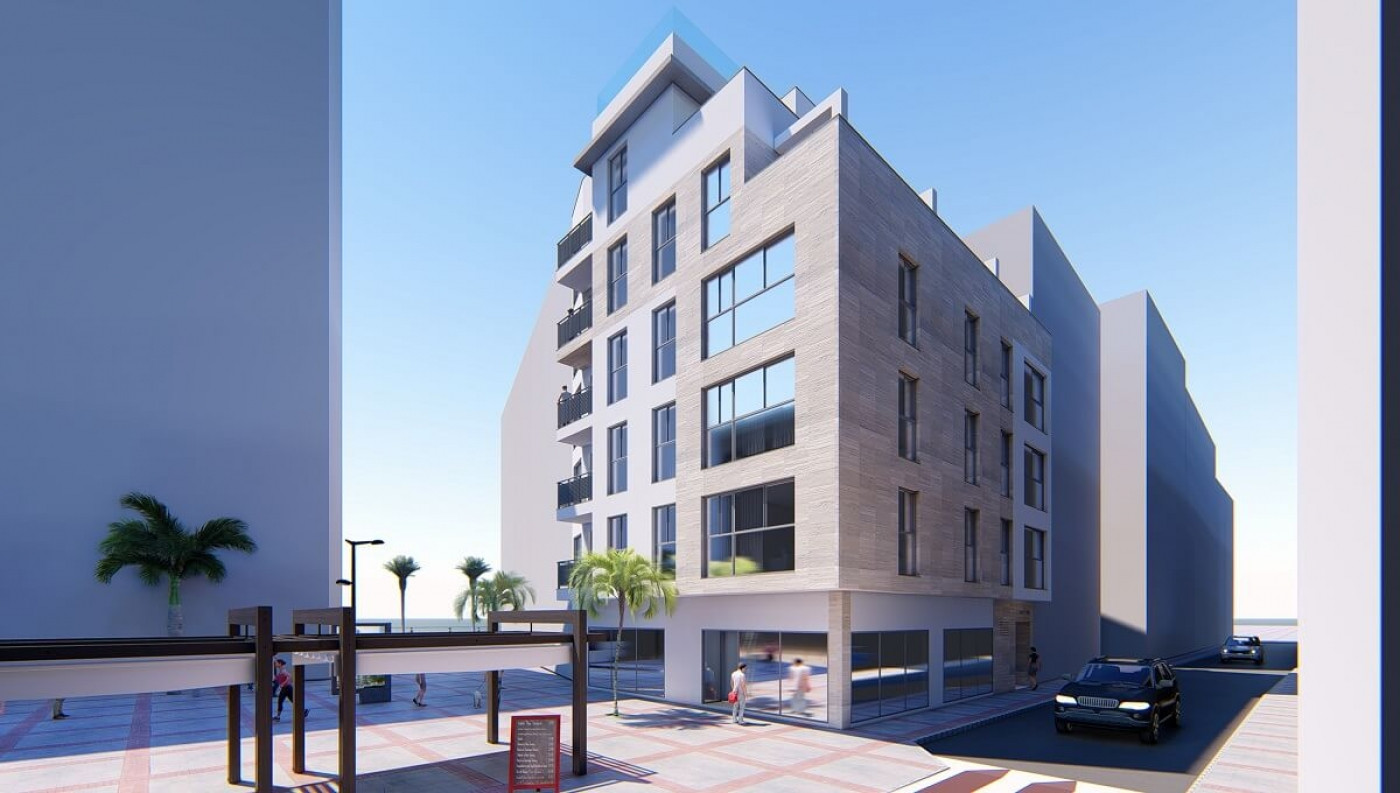 New contemporary beach front boutique apartments for sale in Estepona