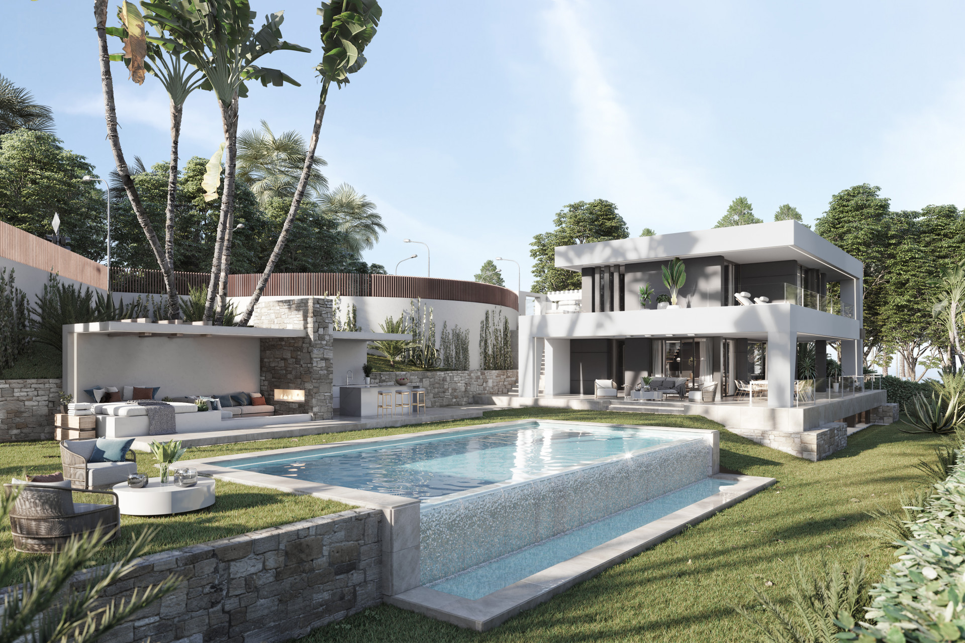 New contemporary beach villa for sale in Estepona