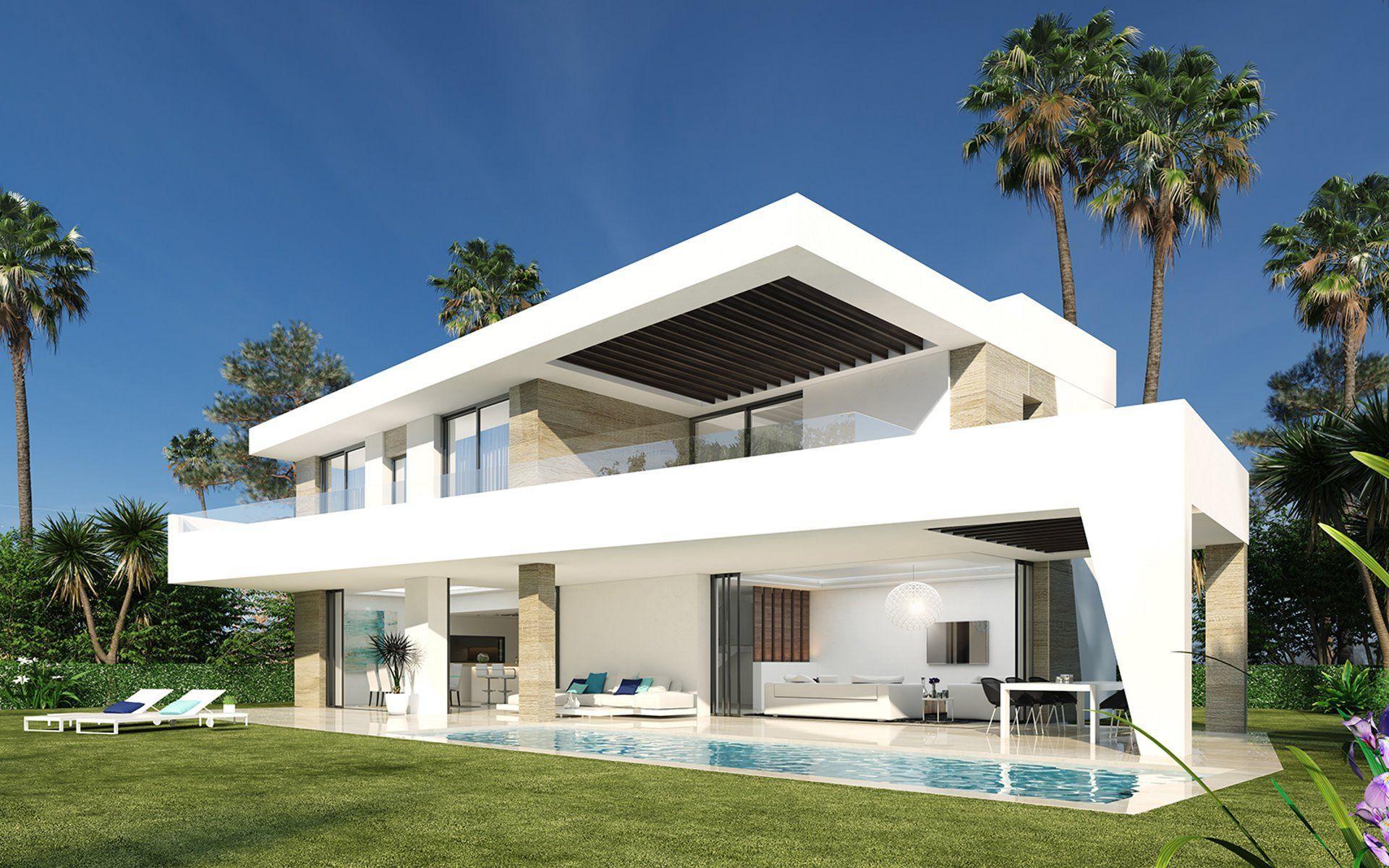 Nuevo complejo de villas contemporáneas en primera línea de golf en venta en la Nueva Milla de Oro Estepona