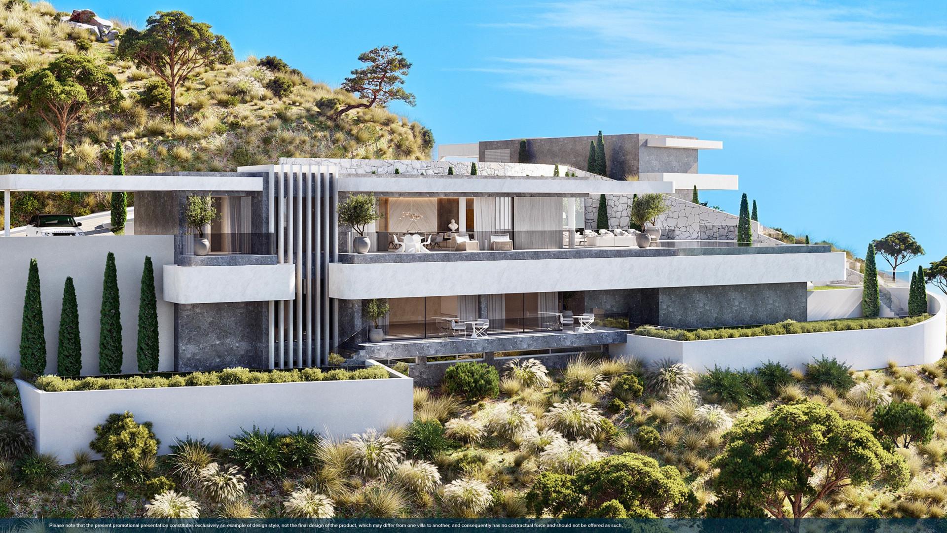 Gloednieuwe luxe moderne villa's te koop in Benahavis