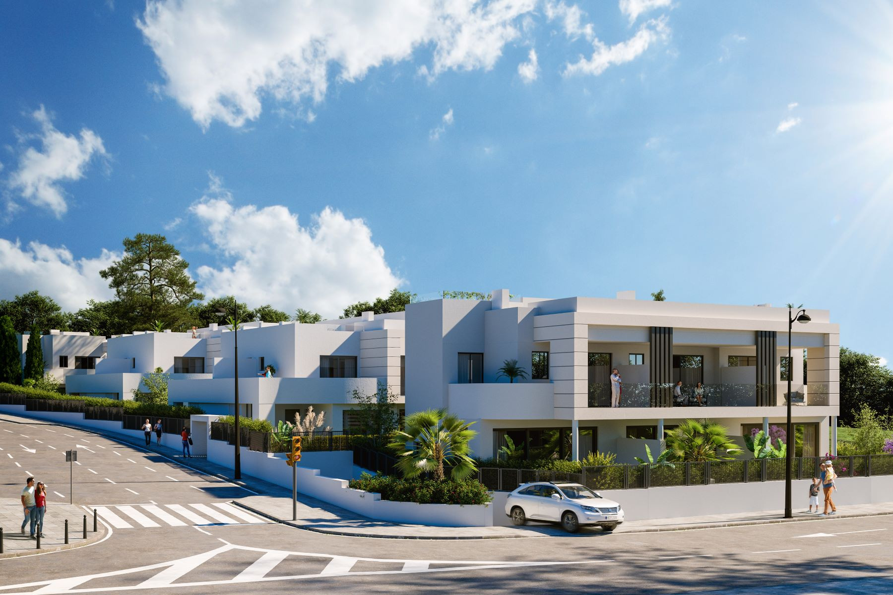 New development of contemporary townhouses in Cancelada - New Golden Mile