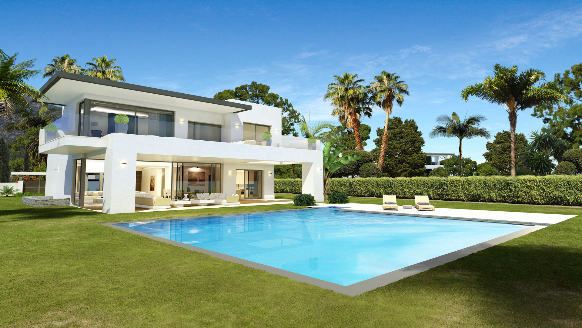 Gated community of luxurious modern villas in The Golden Mile – Marbella